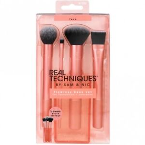 Real Techniques Flawless Base Set Foundation Concealer Brushes BN RRP £20