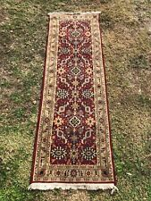 Beautiful Red Rug, Long Runner, 92 Inches Long