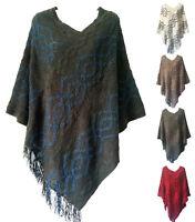 Women Knit Batwing Top Poncho Cape Cardigan Coat Sweater Jacket Outwear Knitwear