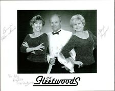 """The Fleetwoods"", 10"" x 8"" Black and White Photo Signed by All Three, Coa"
