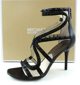 Michael Kors Larissa Dress Studded Strappy High Heel Sandal Black Size 7.5