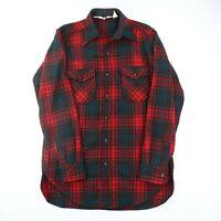 Vintage 70's Woolrich Wool Flannel Tartan Plaid Men's L Long Pockets Multicolor