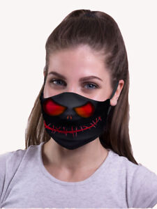 Halloween Face mask REUSABLE Washable Trick or Treat Teens Adults Cotton UK