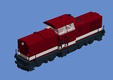 Lego Eisenbahn Eigenbau MOC - PDF Bauanleitung Harzkamel Creator Train Lok
