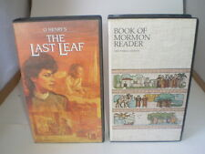 LOT of 2 VHS O. Henry's The Last Leaf Book of Mormon Reader LDS