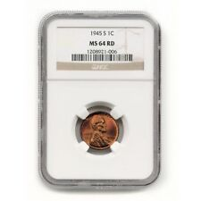 USA Lincoln Wheat Cent 1945 S MS 64 Red NGC