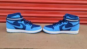 Men's Nike Air Jordan 1 Retro High Strap French Blue Shoes Size 10    342132-407