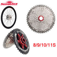 SunRace MTB/Road Bike Cassette 8 9 10 11Speed Bicycle Freewheel fit Shimano SRAM