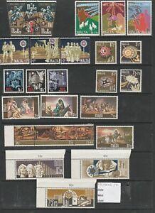 MALTA Nice selection of Christmas Stamps MNH