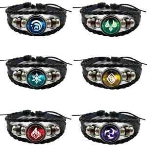 New Genshin Impact  Element Eye of God Adjustable Bracelet Six to Choose Game