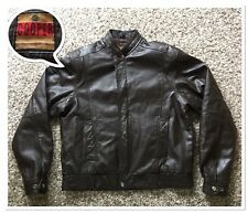 Vintage Flight Bomber Brown Leather Jacket by Cooper Size M Made in Usa
