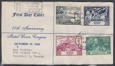 Leeward Is.- Antigua Scott 126-9 FDC - 1949 UPU 75th Anniversary
