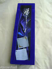 BIRTHDAY / WEDDING GIFT 11Inch Real Rose Dipped in Silver in Handcrafted Box NEW