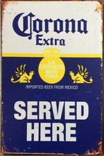 Corona Beer Rustic Garage Rustic Metal Tin Signs Man Cave, Shed & Bar Sign