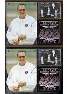Al Davis Oakland Raiders Photo Plaque Hall OF Fame