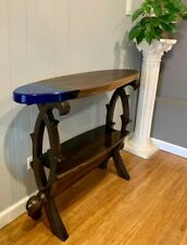 Live Edge Walnut Entryway Console Table with Epoxy Resin / End Sofa Table
