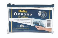 Helix Oxford Clear PVC Transparent Pencil Case 125 x 200mm Exam Approved