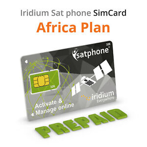 🔥 Iridium satellite phone prepaid SIM Card for Africa Plan
