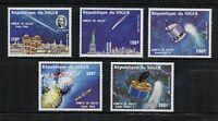 P080  Niger  1985  space comet Halley airmails  5v.  MNH