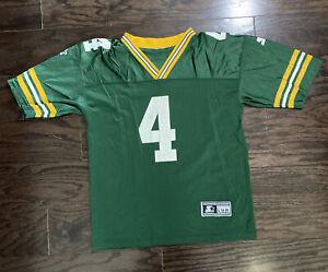 Vintage Brett Favre #4 Green Bay Packers NFL Football Starter Jersey Youth Large