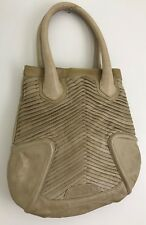DIESEL Leather Long & Slim Shoulder Handbag/Purse w/Logo Colour: Tan