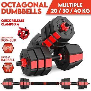 Adjustable Dumbbell Set Barbell Home Fitness Dumbbells Workout 20KG 30KG 40KG