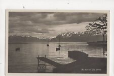 Au Bord Du Lac Leman Switzerland [15655] Vintage Rp Postcard 318b