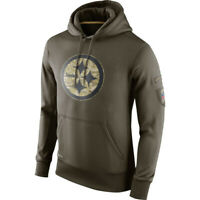 Pittsburgh Steelers Hoodies Men's Sweatshirt Salute to Service Sideline Pullover
