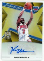 2018-19 Kenny Anderson 06 /10 Auto Panini Spectra Autographs Signatures
