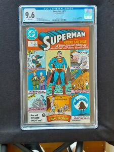 Superman #423*CGC grade 9.6 Near Mint+*Historic Last Issue*By Moore,Perez & Swan