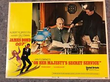 "ON HER MAJESTY'S SECRET SERVICE 1969 ORIGINAL LOBBY CARD #1 (F-) 11"" x 14"" BOND"