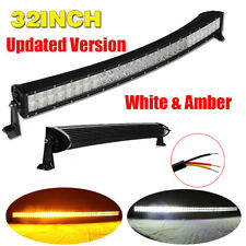 "Curved 32 Inch 360W Amber & White Offroad Led Light Bar Combo 30"" For ATV Truck"