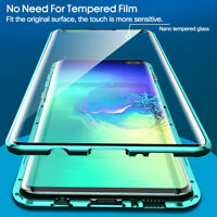 Double-sided Magnetic 360 Protect Case For Samsung Note 10 Plus Tempered Glass