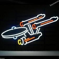 New Star Trek Enterprise Space HANDCRAFTED REAL GLASS BEER BAR NEON LIGHT SIGN