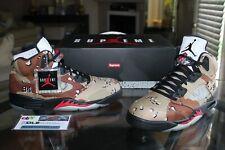 Deadstock Air Jordan 5 V Supreme Desert Camo Fire Red Black 824371-201 Size 11
