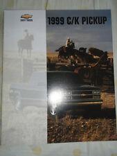 CHEVROLET C / K Pickup opuscolo 1999 mercato USA