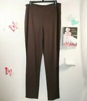 J. JILL Wearever Collection SMOOTH FIT SLIM LEG Brown Pull On Pants SIZE LARGE