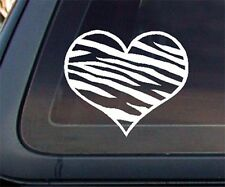 Zebra Print Heart Car Decal / Sticker