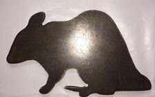 "Rat Silhouette Steel Target Gong 8"" X 5"" Rimfire .22 9MM"