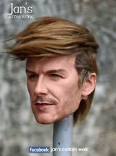 1/6 Hot CUSTOM REPAINT REHAIR toys David Beckham figure head DX phicen zcwo