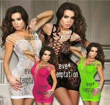 Sexy Fishnet Body stocking Bodysuit Lingerie Babydoll strapless Teddies DRESS