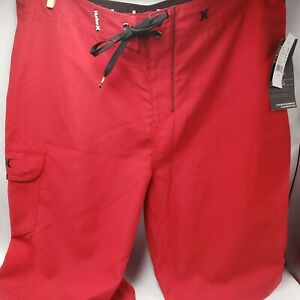Hurley Board short Red 34 Polyester Recycled Swimwear Swimming Trunks