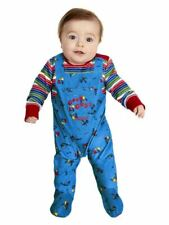 Babies Toddlers Chucky Fancy Dress Costume Halloween Licensed Kids Outfit