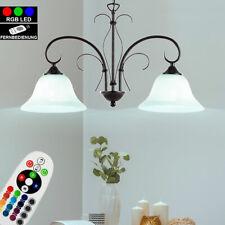 RGB LED Banker Tisch Leuchte Glas Alabaster Design Lampe dimmbar Fernbedienung