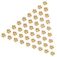 50pcs Flower Spacer Metal Beads bead caps Charm Beads Cap 8mm Gold