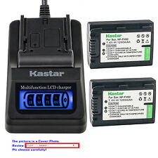 Kastar Battery LCD Quick Charger for Sony NP-FH50 & Cyber-shot DSC-HX1 DSC-HX100
