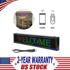 Programmable 40 X 8 Inch Full Color P10 Led Sign Scrolling Message Display