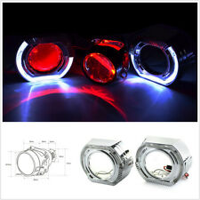"2.5""Bi xenon hid Projector lens led dayrunning shrouds white angel red demon eye"
