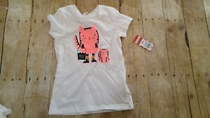 Girls Halloween Shirt NEW Size 6 6X Size Small Cat & JackT-shirt White with Cats