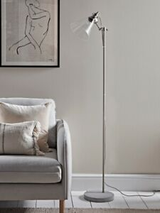 Cox And Cox Glass And Concrete Floor Lamp New 🚚 Free Delivery